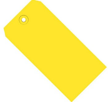 Yellow Colored Tags - Shipping Tags - 1000 Count