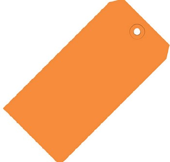 Orange Colored Tags - Shipping Tags - 1000 Count