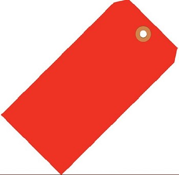 Fluorescent Red Tags - Shipping and Inventory Tags