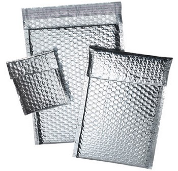 Cool Shield Thermal Bubble Mailers - Self Seal - 8 x 11 - 100 Ct