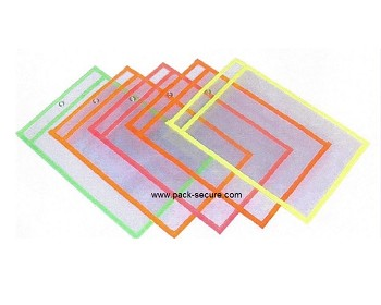 Fluorescent Shop Ticket Holders - 5 Inch x 8 Inch - 15 Ct