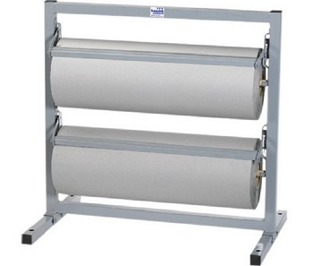 Horizontal Paper Rack with Cutter - 24 in. Double Roll - KP24DHDIS