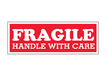 Labels - Fragile Handle with Care 1.5 in. x 4 in. 500 Ct.