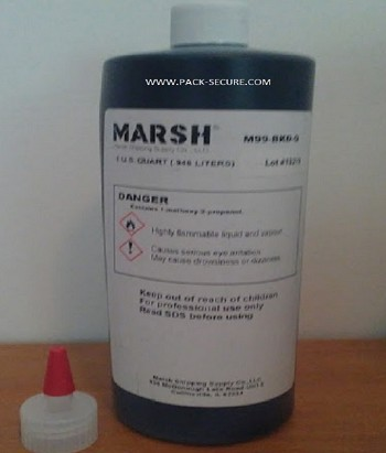 M99-BKD-Q - 1 Quart Black Ink For Marsh 99 Refillable Markers (Pen sold separately)