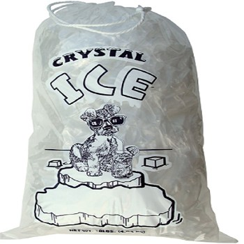 PB-ICE-10ADS - Ice Bags - 11.5 x 19.5 - 10 lb - Draw String