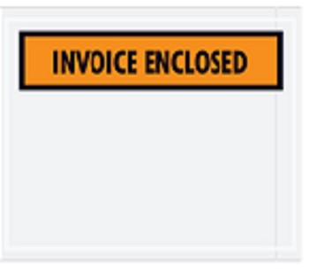 Invoice Enclosed Orange Panel Document Envelopes 7 x 5.5 - 1000 Ct.