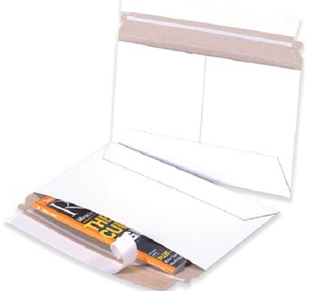 White Side Loading Flat Mailers - 9 Inch x 6 Inch - 200 ct