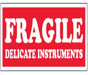 Fragile Delicate Instruments 1.5 x 4 500 Ct.