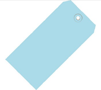 Light Blue Colored Tags - Shipping Tags - 1000 Count