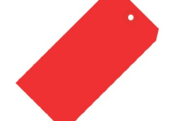Red Colored Tags - Shipping Tags - 1000 Count