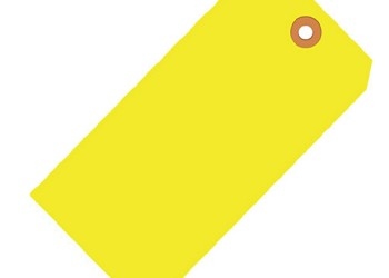 Fluorescent Yellow Tags - Shipping and Inventory Tags