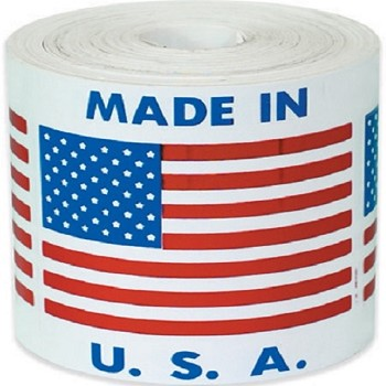 Made In USA Labels 2 in. x 2 in.