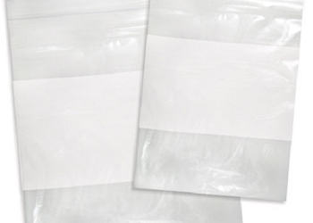 Clear Zip Reclosable White Block Bags - 2 mil, 4 mil and 6 mil
