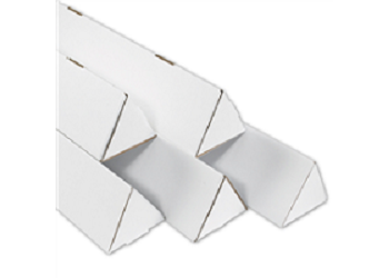 White Triangle Mailing Tubes - 2 x 18.25 - 50 Ct.